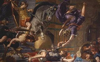 欧仁·德拉克洛瓦博物馆里的一场搏斗