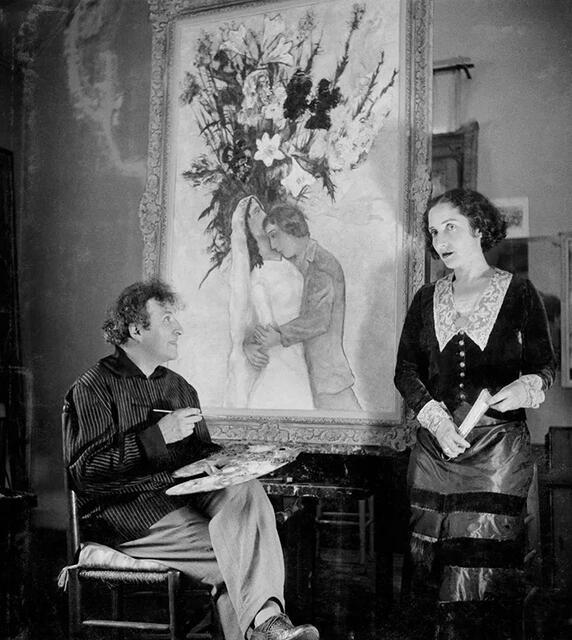 爱 是他艺术创作最好的颜料(组图)  夏加尔(1887-1985),俄裔法国画家图片