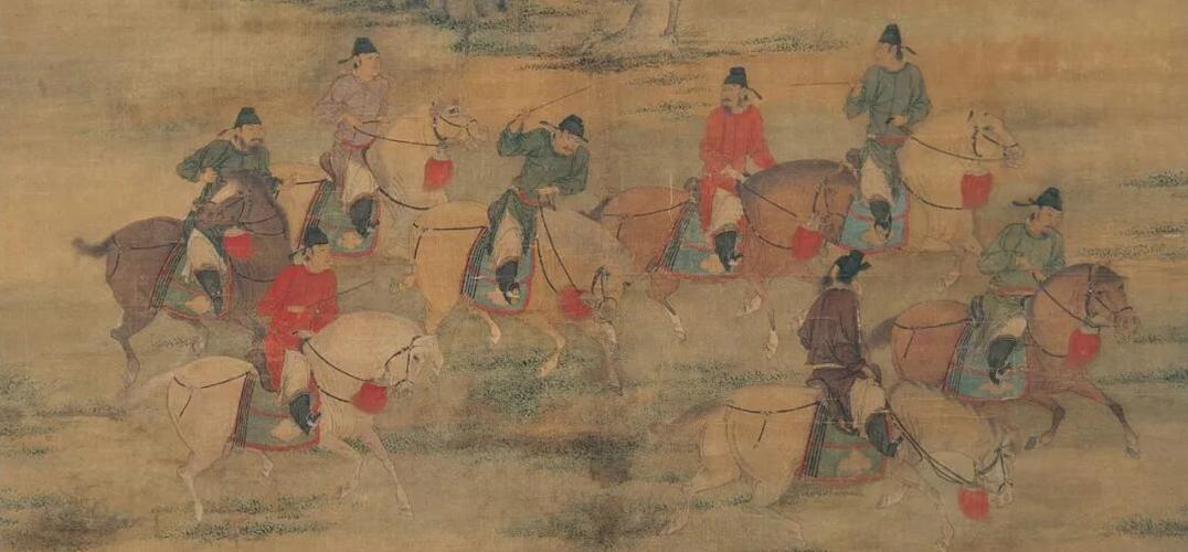 在古画中观古人踏青春游