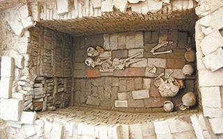 马蹄形砖窑紧邻墓葬  解密汉代青砖烧制