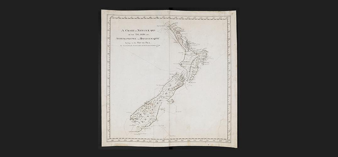 在大英图书馆看詹姆斯·库克的航海历程