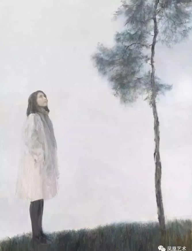 31千高原画廊售出何多苓作品《看松》布面油画,200×150cm,2016
