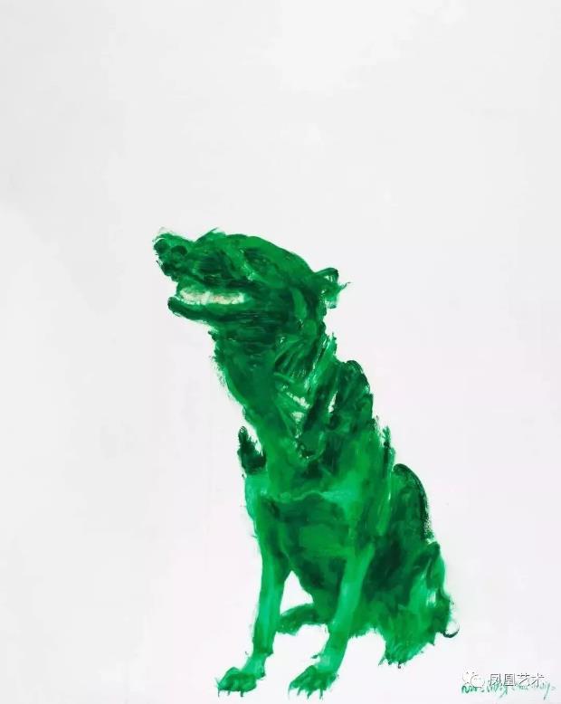 A18-《绿狗》周春芽,2002