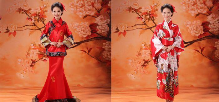 当和服遇到中国传统元素