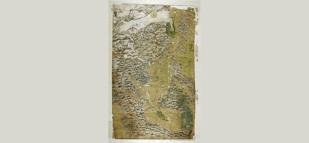 """""""流落""""牛津大学的《雪尔登中国地图》"""