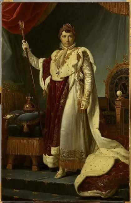他们将拿破仑·波拿巴定格在画中