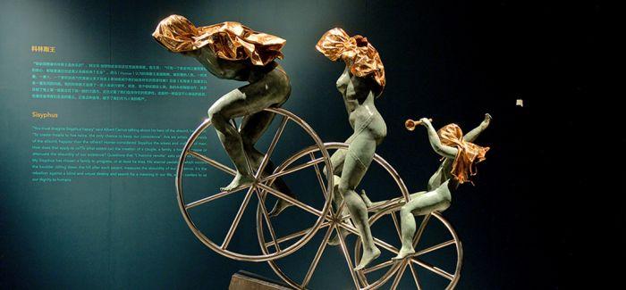 """安娜·高美雕塑作品""""和谐""""亮相中国国家博物馆"""