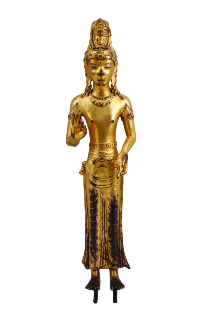 铜鎏金阿嵯耶观音立像