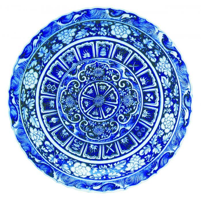 图3 土耳其伊斯坦布尔托普卡帕博物馆收藏的一只元青花盘子