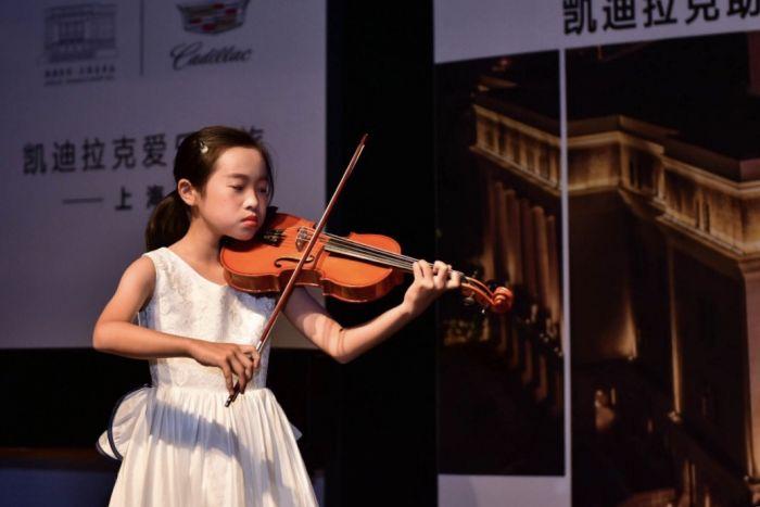 图3:小小音乐家们首次登上凯迪拉克·上海音乐厅的舞台,勇敢跨出了音乐旅程的第一步