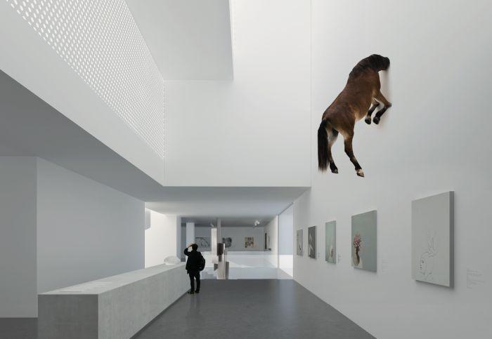 6中央美术学院山东艺术教育中心设计方案草图(2019年3月竣工) (4)