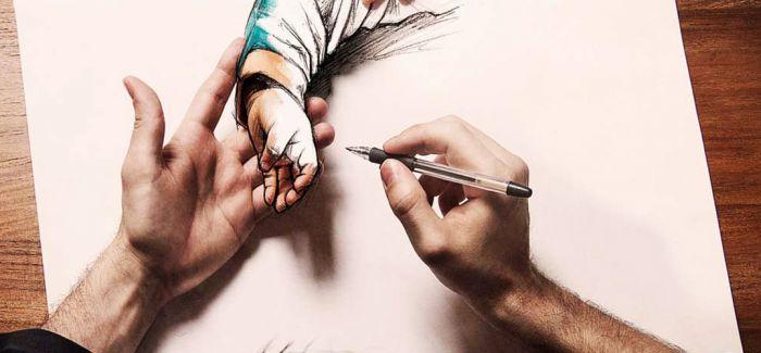 把自己变成画的一部分