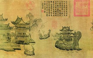 端午节:龙舟竞渡 带水城郭