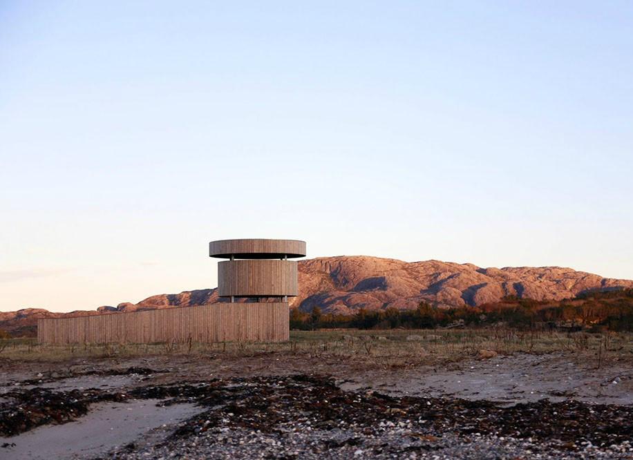 柔软的外表下,那是孤独坚强的灵魂丨挪威木制观鸟塔第8张图片