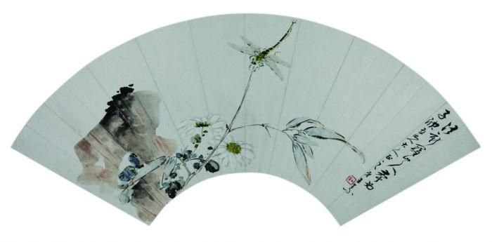 圖說:王素作品:秋蟲圖扇頁。圖 揚州博物館提供