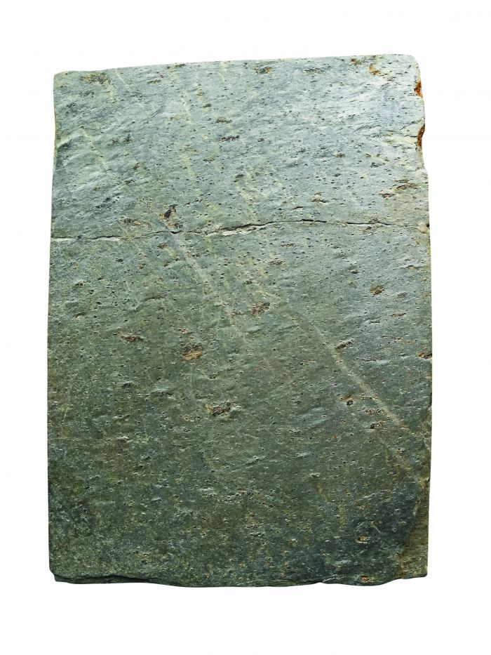 图1歙石板研研面图