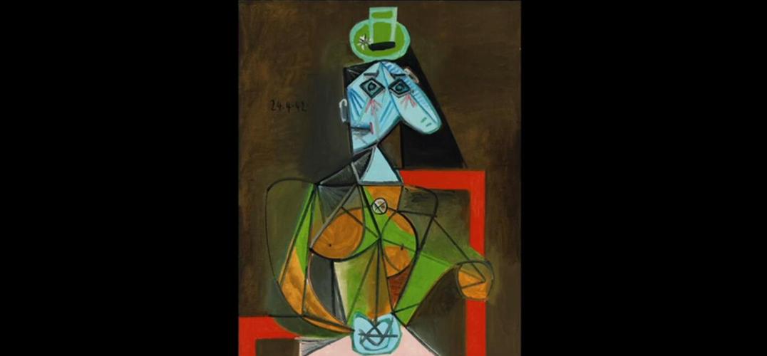 美丽与高贵的《扶手椅上的女人(朵拉·玛尔)》