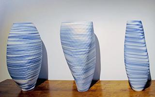 巴塞尔设计节上的3D瓷花瓶