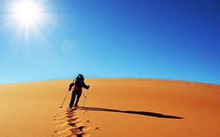 一起徒步穿越沙漠吧