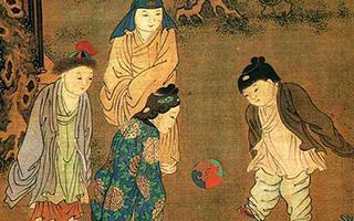 《临宋太祖蹴鞠图》中的球迷们
