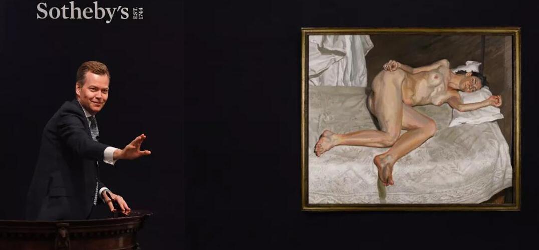 弗洛伊德裸女肖像画刷新其在伦敦成交价纪录