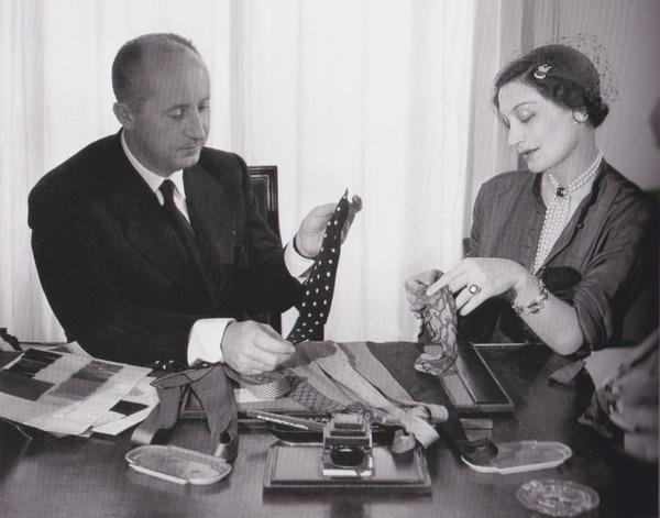 Dior先生和他的缪斯Mitzah Bricard 图片来自品牌