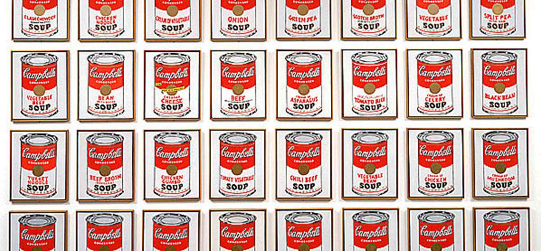 看安迪·沃霍尔在惠特尼美术馆中循环往复