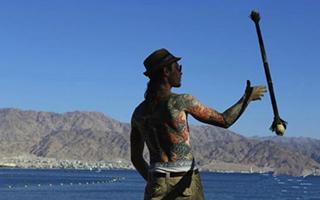 """在""""行走以色列""""摄影展中看自然和人文旅游资源"""