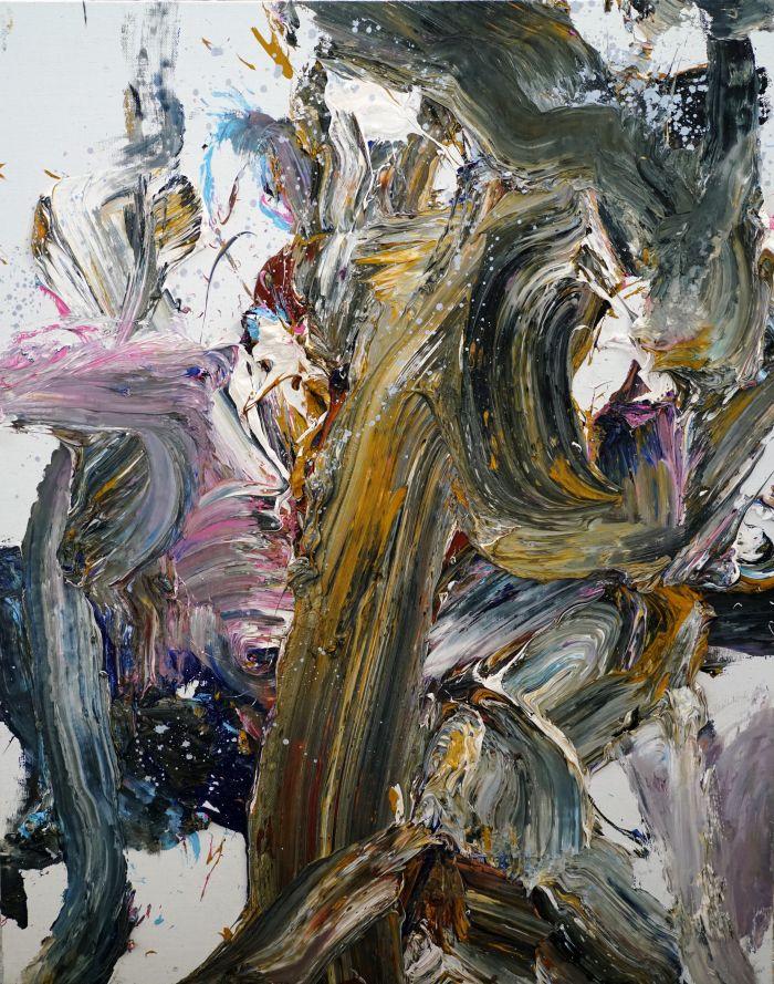 王易罡《抽象作品s133》150x120cm布面油画2017年
