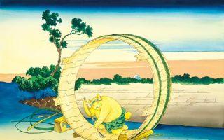 """""""钻进""""浮世绘中的大橘猫"""