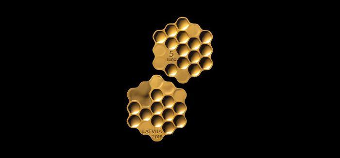 充满食欲的蜂巢硬币