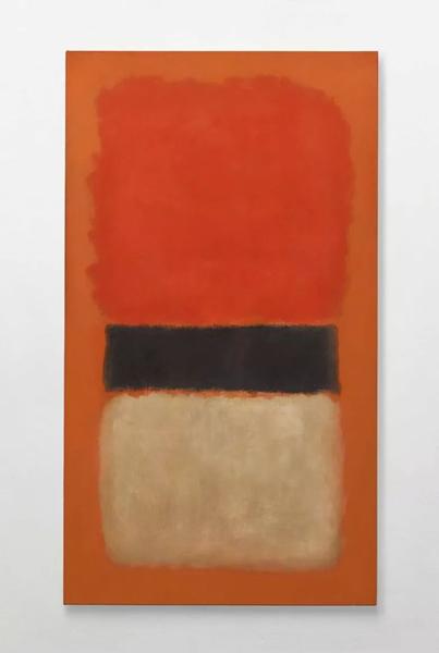 马克·罗斯科,《黑色条纹(橘色、金色和黑色)》,1957年作,173.1 x 97.5 cm.。2012年11月14日在佳士得纽约以21,362,500美元成交。 © 1998 Kate Rothko Prizel & Christopher Rothko ARS, NY and DACS, London