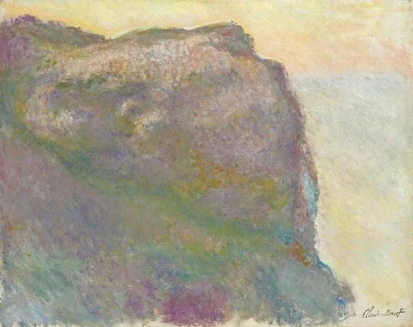 克劳德·莫奈《佩蒂特艾利海湾边的悬崖》,1896年作,73 x 92 cm.。2011年5月4日在佳士得纽约以1,986,500美元成交