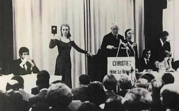 1958-1974年间担任佳士得主席的I.O. Chance先生在佳士得日内瓦早期举办的一场拍卖会上