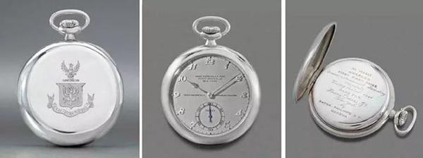 亨利·格拉夫斯二世的定制版白金百达翡丽怀表。2004年在佳士得日内瓦以2,252,000瑞郎成交