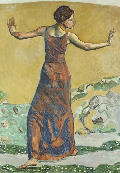 费迪南德·霍德勒《瓦伦丁·戈德·达丽尔肖像》。2000年在佳士得苏黎世以2,585,000瑞郎成交