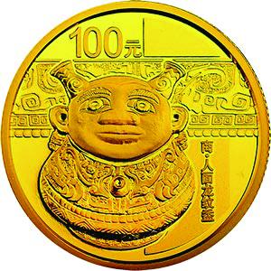 7.776克(四分之一盎司)圆形精制金质纪念币背面图案 中国青铜器金银纪念币(第3组)