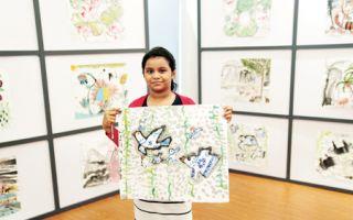 在斯里兰卡学中国水墨