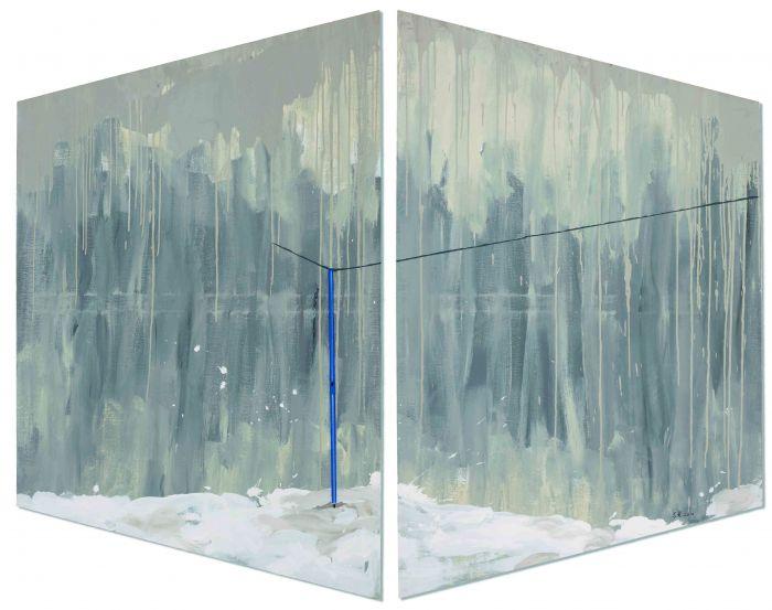 温室效应,布上丙烯、温度计,200x180,2011