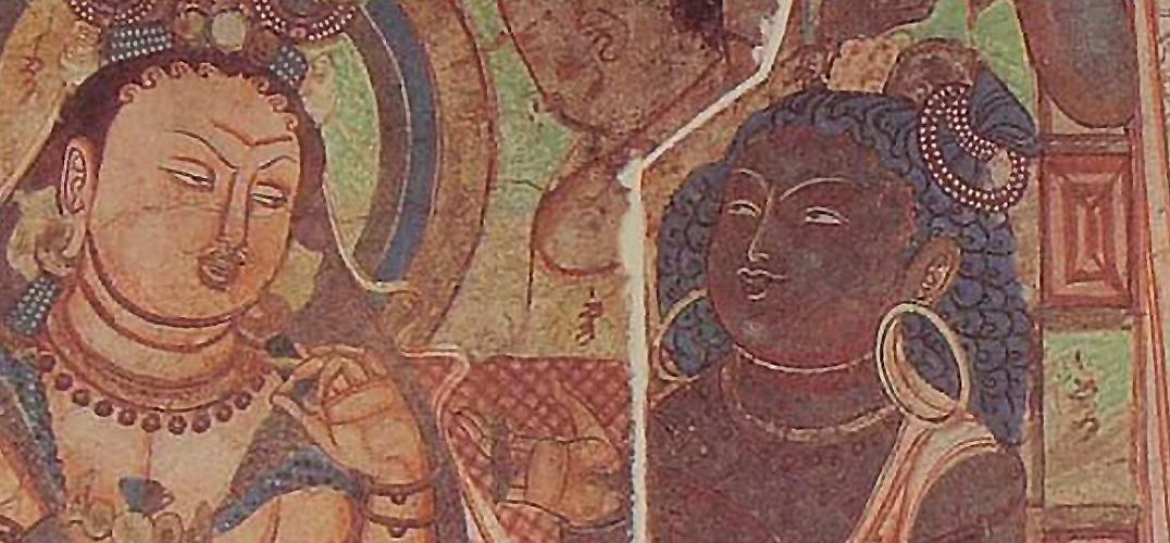 法国藏克孜尔石窟壁画的断片