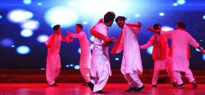 陕西文化艺术团献艺巴基斯坦独立日庆典