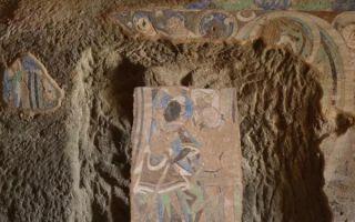 被西方探险队揭取的克孜尔壁画