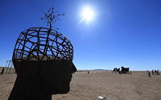 11国户外雕塑亮相甘肃 借艺术倡环保