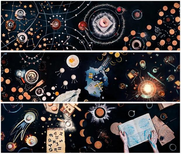 Dina Belenko::餐桌上的太空