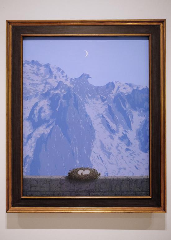 马格利特,《阿恩海姆的领域》(The Domain of Arnheim),布面油画,1962年
