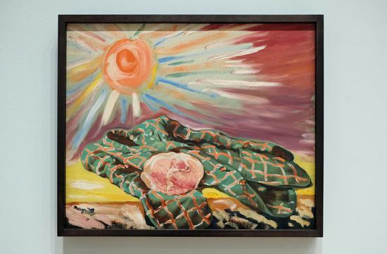 马格利特,《晕船》(Seasickness),布面油画,1948年