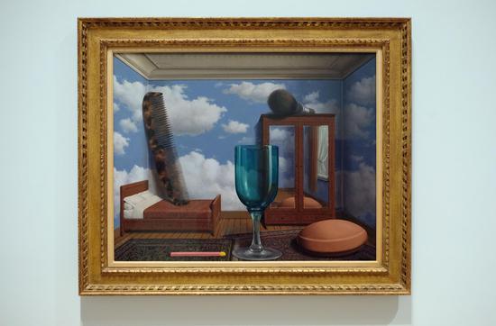 马格利特,《个人价值》(Personal Values),布面油画,1952年