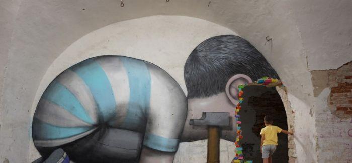 街头艺术家的独特场所