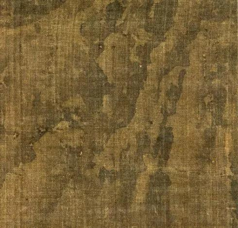▲积墨法写石,用笔草草,不拘于形