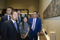 日本自民党干事长二阶俊博参观《清明上河图3.0》